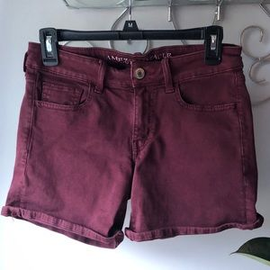 American Eagle Outfitters Maroon Jean Shorts